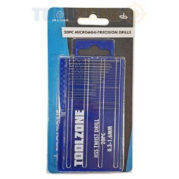 20Pc Microbox Precision Drills